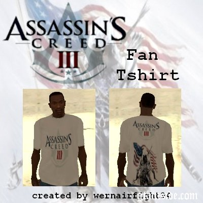 Assassins Creed 3 Fan Tshirt