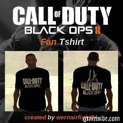 COD Black Ops 2 Fan Tshirt