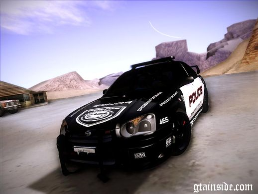Subaru Impreza WRX STI Police Speed Enforcement