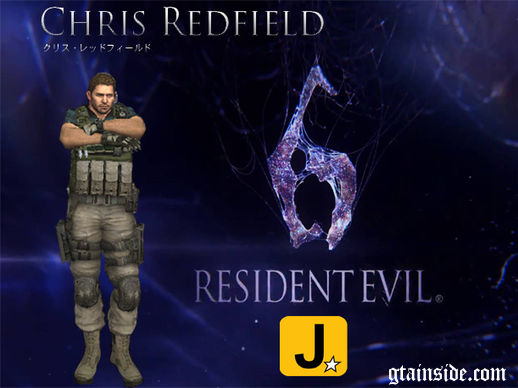 Chris Redfield Asia Resident Evil 6