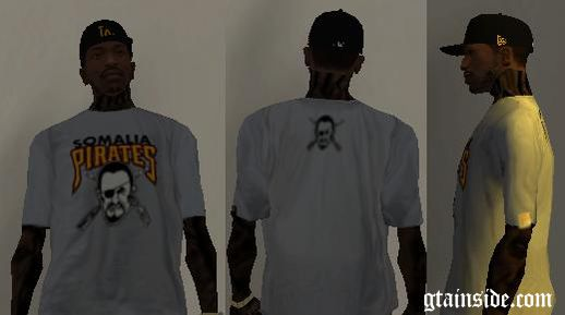 Somalia Pirates T-Shirt Wiz Khalifa