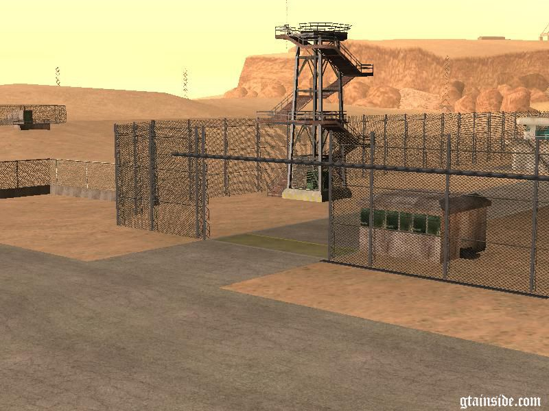 Gta San Andreas Enterable Area 69 Fence Mod Gtainside Com