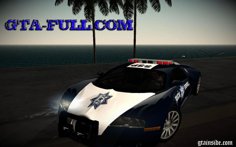 gta san andreas bugatti veyron federal police mod. Black Bedroom Furniture Sets. Home Design Ideas