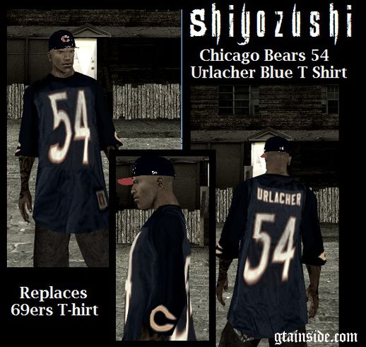 Chicago Bears 54 Urlacher Blue T-Shirt