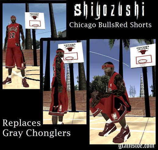 Chicago Bulls Red Shorts