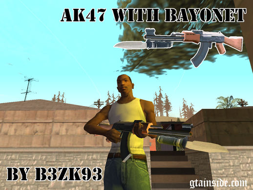 AK47 with Bayonet
