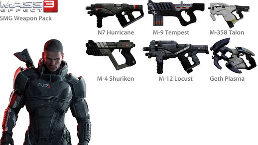 Mass Effect 3 SMG Weapon Pack
