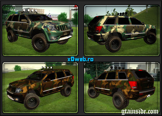 GTA San Andreas 2012 Jeep Grand Cherokee SRT8 Camo Mod ...