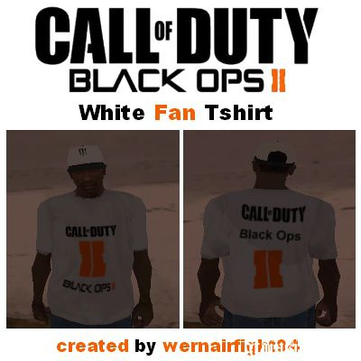 COD Black Ops II White Fan T-Shirt