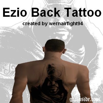 Ezio Back Tattoo