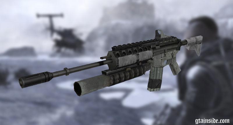 GTA San Andreas M4a1 from CoDmw2 Mod - GTAinside com