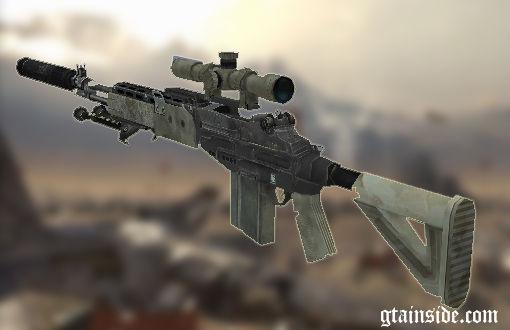 GTA San Andreas Sniper Rifle From MW2 Mod - GTAinside com