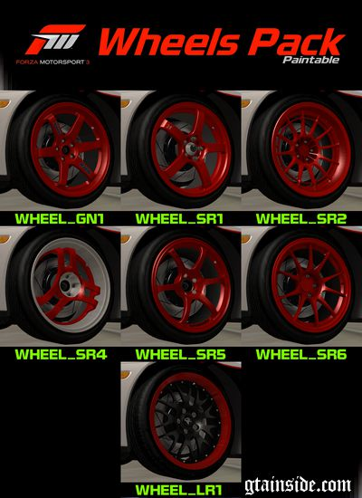 FM3 Wheels Pack Paintable