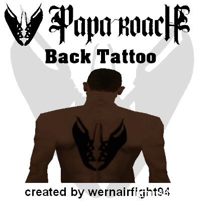 Papa Roach Back Tattoo