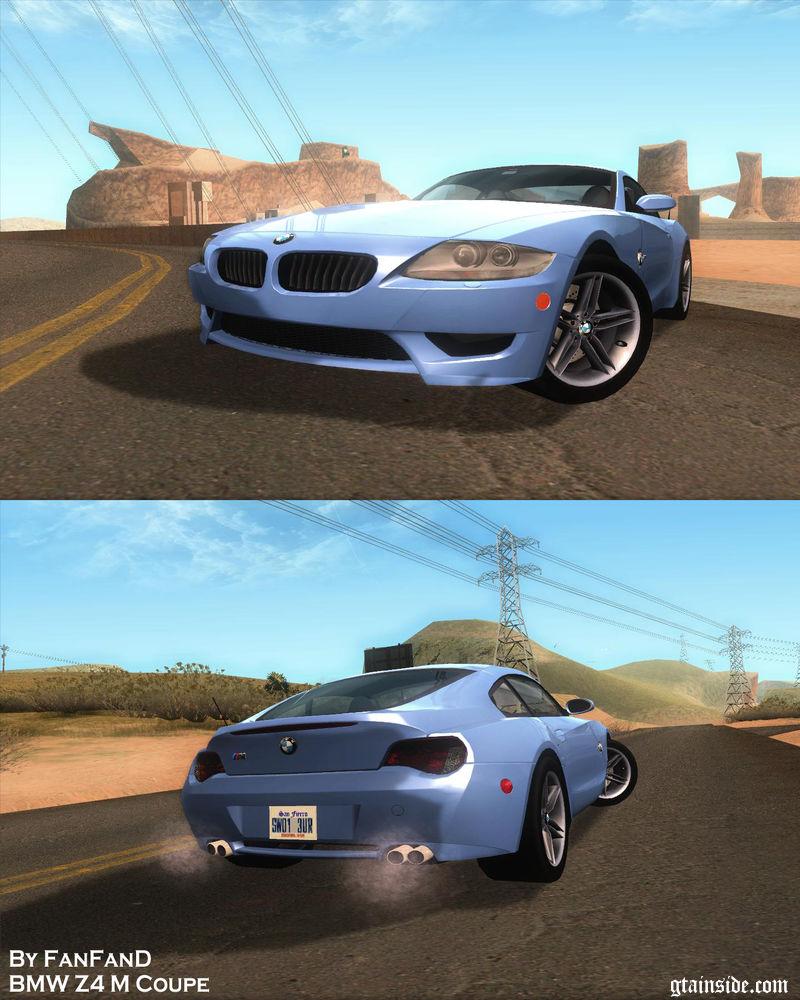 Bmw Z4 M Roadster: GTA San Andreas BMW Z4 M Coupe Mod