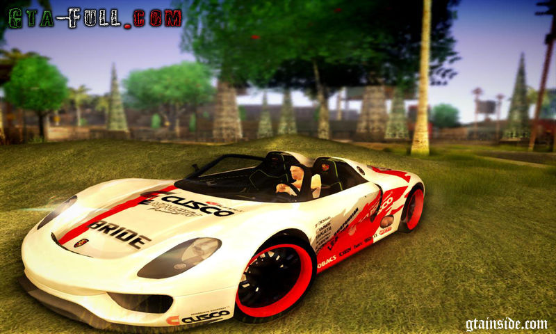 gta san andreas porsche 918 spyder consept mod. Black Bedroom Furniture Sets. Home Design Ideas