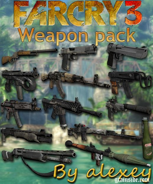 Far Cry 3 Weapon Pack