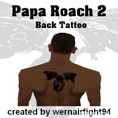 Papa Roach 2 Back Tattoo
