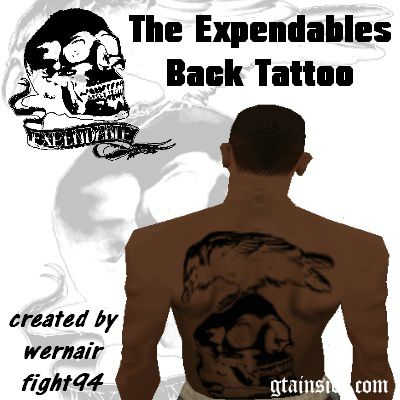 The Expendables Back Tattoo