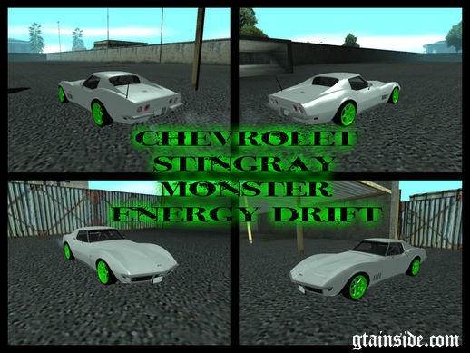 Chevrolet Corvette C3 Stingray Monster Energy Drift