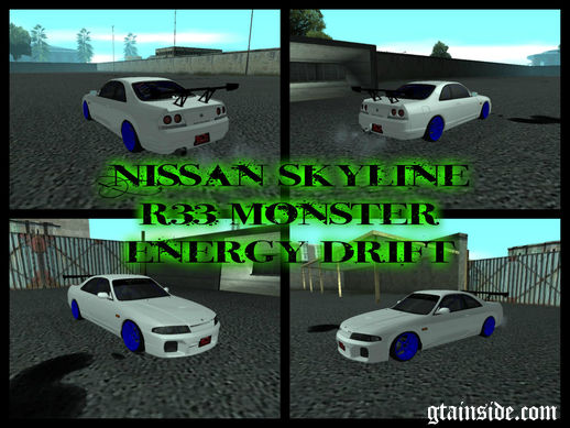 Nissan Skyline R33 Monster Energy Drift