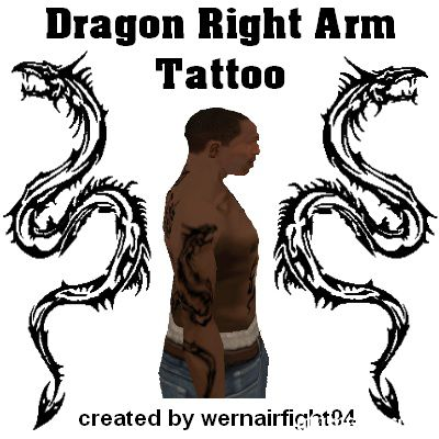 Dragon Right Arm Tattoo