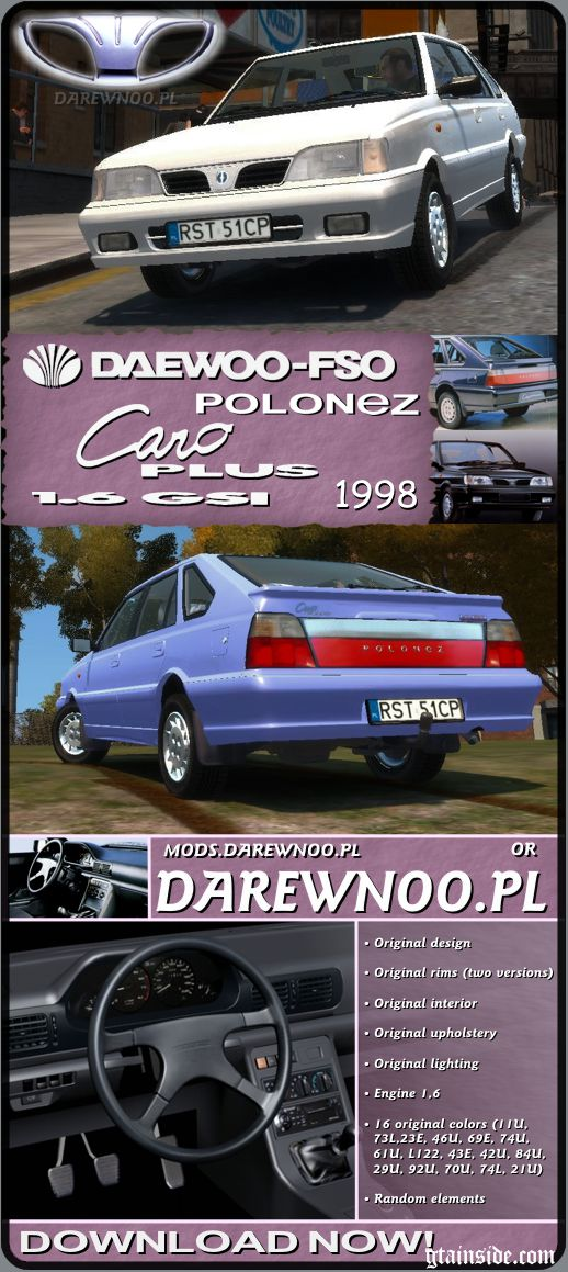 1998 Daewoo-FSO Polonez Caro Plus 1.6 GSI (final)