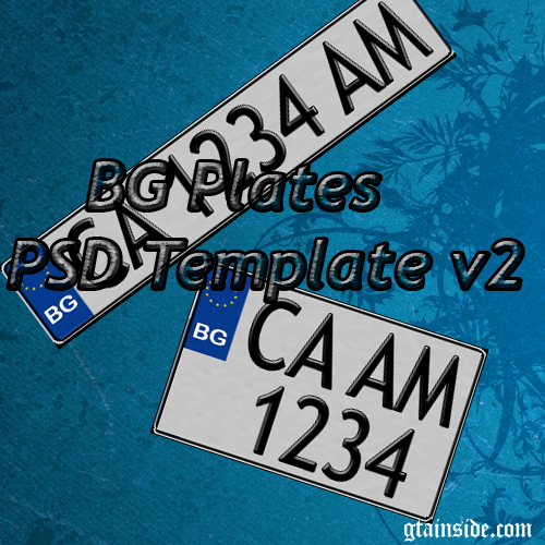 BG Registration Plates v2