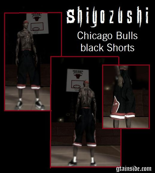 Chicago Bulls Black Shorts
