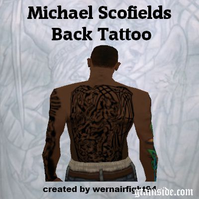 Michael Scofields Back Tattoo