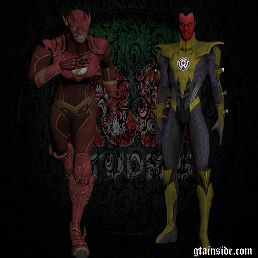 Sinestro and Flash