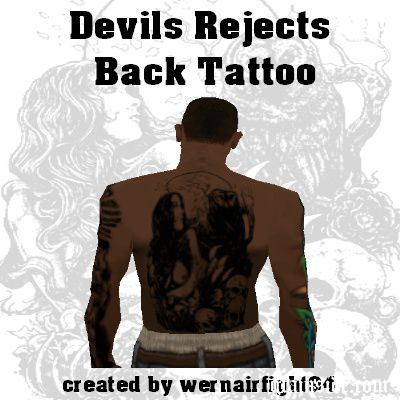 Devils Rejects Back Tattoo
