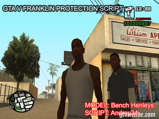 GTA V Franklin Bodyguard (FIXED)