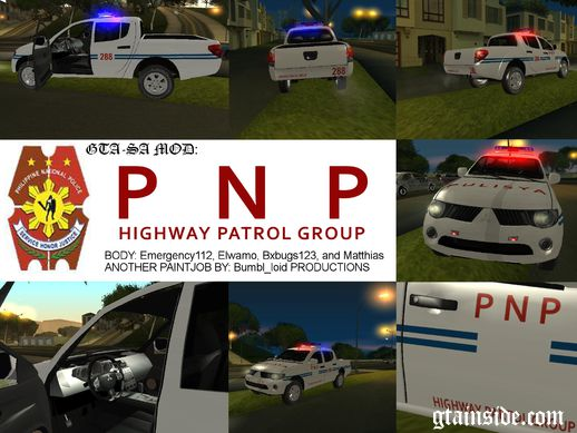 Mitsubishi Strada Philippine National Police - HPG