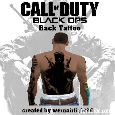 COD Black Ops Back Tattoo