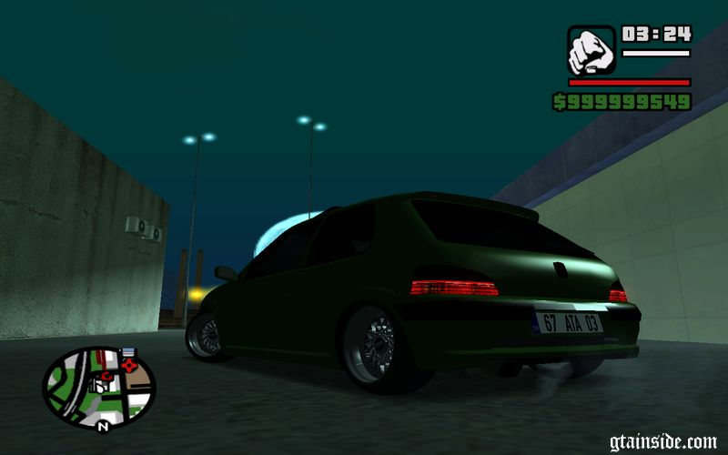 gta san andreas peugeot 106 gti baatilrhyme tuning mod. Black Bedroom Furniture Sets. Home Design Ideas
