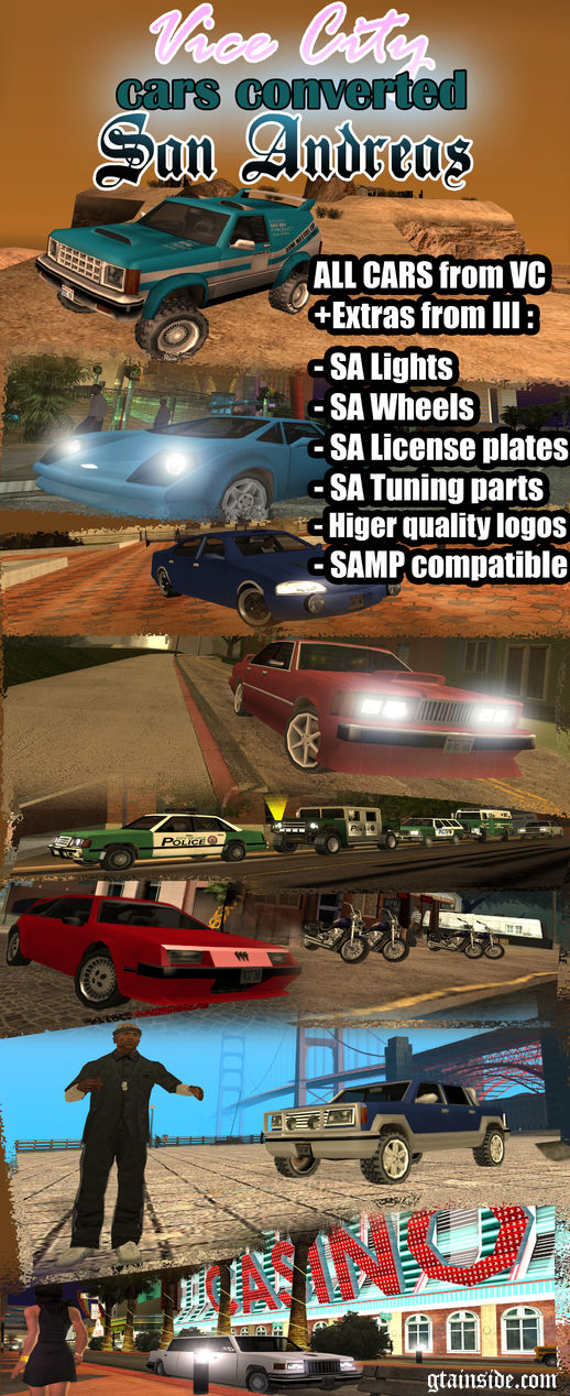 Vice City Cars converted to San Andreas