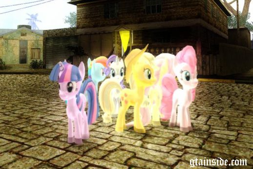 New MLP: FIM Fluttershy, Pinkie Pie, Rarity, Apple Jack and Twilight Sparkle Skin Mods