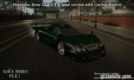 Mercedes-Benz CLK GTR - Road version with Carbon Spoiler v3.0.1