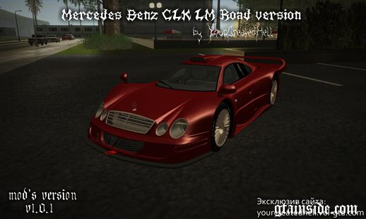 Mercedes-Benz CLK LM - Road version, custom v1.0.1