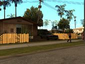 Trucks parked on Grove Street