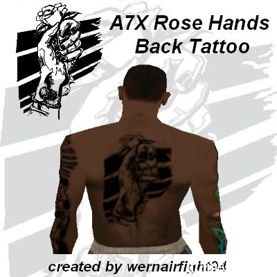 A7X Rose Hands Back Tattoo