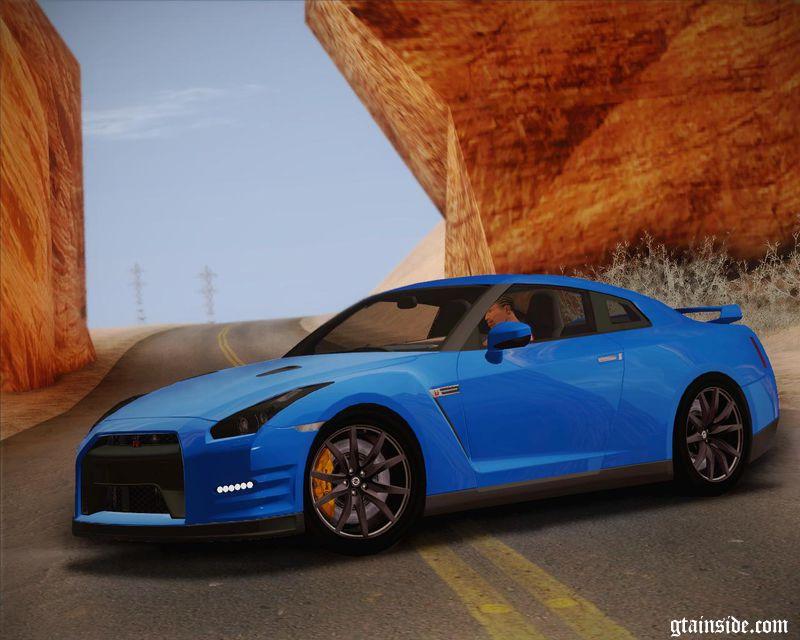 GTA San Andreas Nissan GTR Black Edition Mod - GTAinside.com