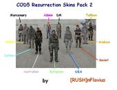COD5 Resurrection Skins Pack 2