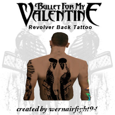 BFMV Revolver Back Tattoo
