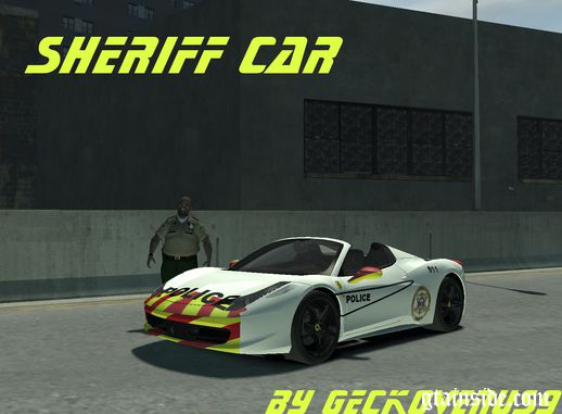 Ferrari 458 Spider Sheriff car