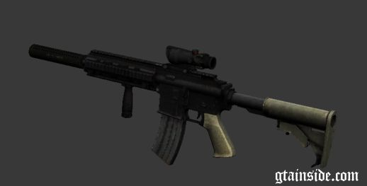 M416 with ACOG sight and silenced