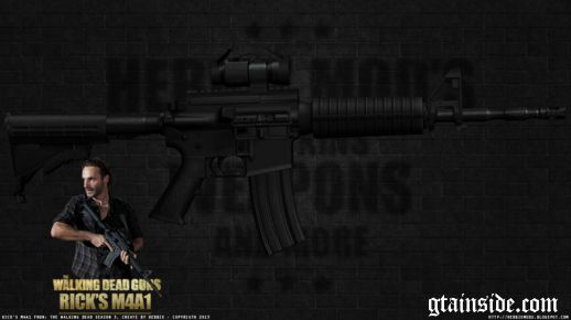 Rick's M4A1 The Walking Dead S3
