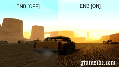 GTA San Andreas InRage Ultra Graphics Settings Mod