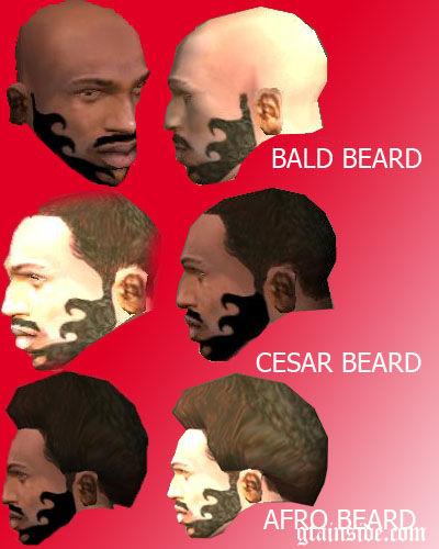 GTA San Andreas New Beard Style For CJ Mod GTAinsidecom - Bald hairstyle gta 5